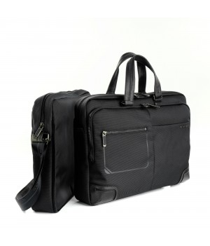 RONCATO WALL STREET TWO-WAYS 15.6' LAPTOP BRIEFCASE BLACK