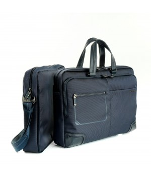 RONCATO WALL STREET TWO-WAYS 15.6' LAPTOP BRIEFCASE DARK BLUE