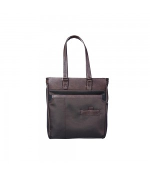 RONCATO HARVARD SHOPPER BAG DARK BROWN