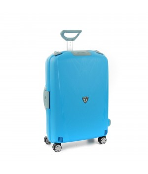 RONCATO LIGHT LARGE TROLLEY 4 WHEELS LIGHT BLUE