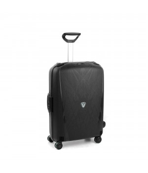 RONCATO LIGHT MEDIUM TROLLEY 4 WHEELS BLACK
