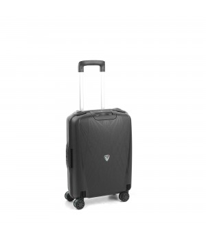 RONCATO LIGHT CABIN TROLLEY 4 WHEELS 55CM BLACK