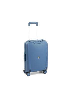 RONCATO LIGHT CABIN TROLLEY 4 WHEELS 55CM AVIO BLUE