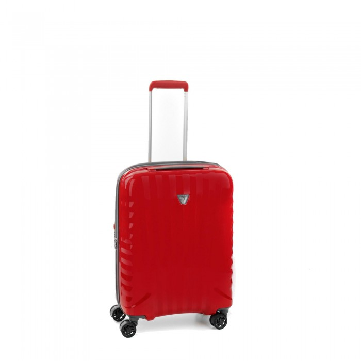 RONCATO UNO BRIGHT CABIN TROLLEY 4 WHEELS 55 CM RED