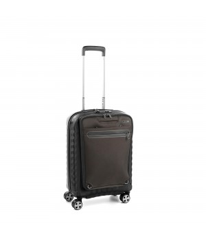 DOUBLE PREMIUM TROLLEY CABINA BUSINESS 55CM CON TASCA ZAINO PORTA PC ESTRAIBILE