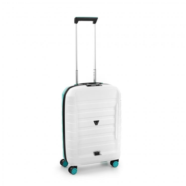 RONCATO D-BOX CABIN TROLLEY 55 x 40 x 20 CM WHITE/EMERALD