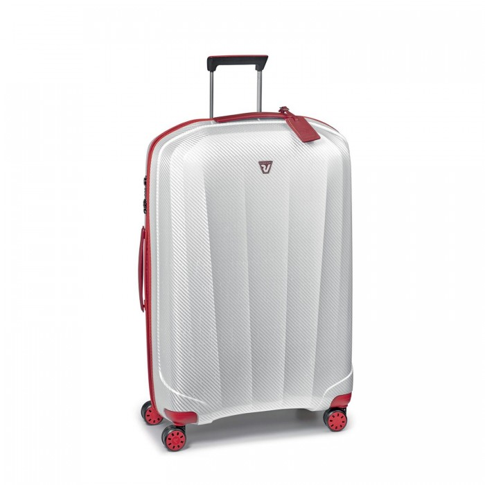 RONCATO WE-GLAM LARGE TROLLEY 4 WHEELS 80 CM RED/WHITE