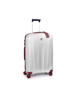 RONCATO WE-GLAM MEDIUM TROLLEY 4 WHEELS 70 CM RED/WHITE