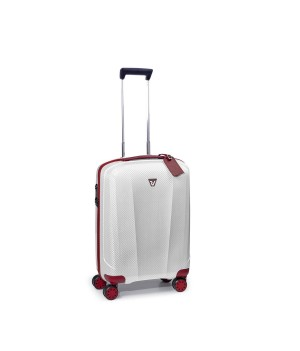 RONCATO WE-GLAM CABIN TROLLEY 4 WHEELS 55 CM RED/WHITE