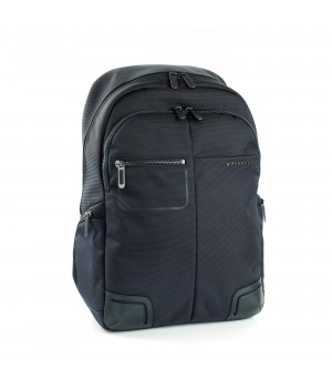 RONCATO WALL STREET 14' LAPTOP BACKPACK WITH 10' TABLET HOLDER DARK BLUE
