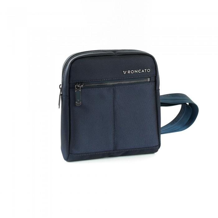 RONCATO WALL STREET SHOULDER BAG FOR MEN DARK BLUE