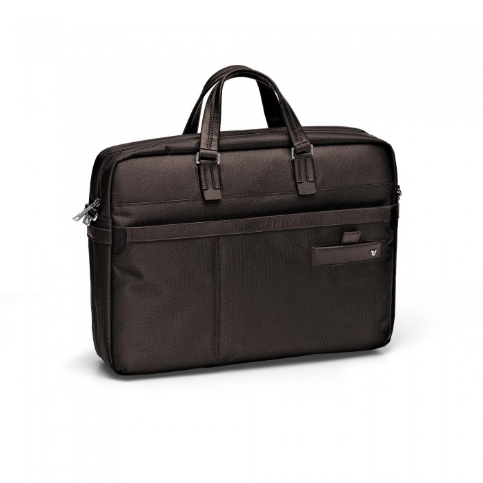 RONCATO HARVARD LAPTOP BAG DARK BROWN