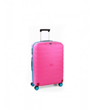 RONCATO BOX YOUNG MEDIUM TROLLEY 4 WHEELS LIGHT BLUE/PINK