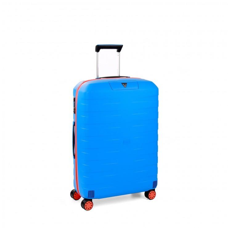 RONCATO BOX YOUNG MEDIUM TROLLEY 4 WHEELS ORANGE/ELECTRIC BLUE