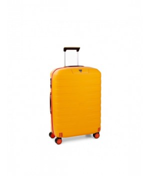 RONCATO BOX YOUNG MEDIUM TROLLEY 4 WHEELS ORANGE/SUN