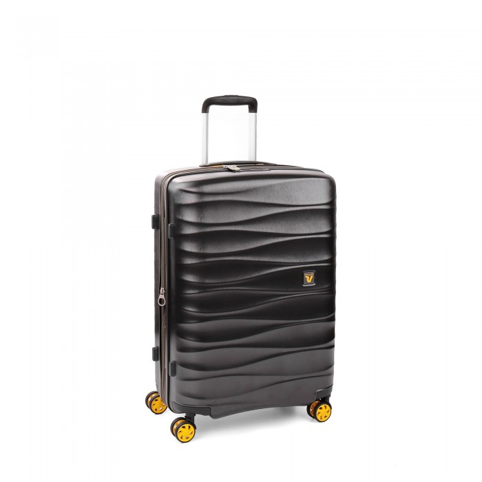RONCATO STELLAR MEDIUM TROLLEY 64 CM WITH EXPANDABLE SYSTEM ANTHRACITE