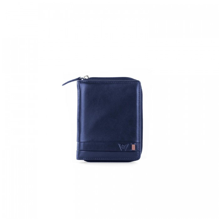 RONCATO RIO WALLET WITH COIN HOLDER BLUE