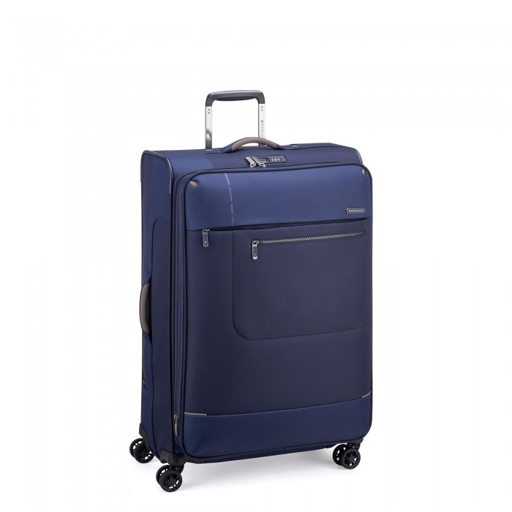 RONCATO SIDETRACK LARGE TROLLEY EXPANDABLE 75 CM WITH TSA DARK BLUE