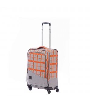 ADVENTURE TRAVEL TROLLEY CABINA 55 CM 4 WHEELS, INTERIOR LINED AND COLORED, TRIPLE COMBINATION LOCK AND TSA