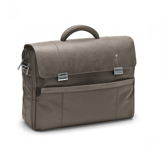 RONCATO HARVARD 17' LAPTOP BRIEFCASE ECRU