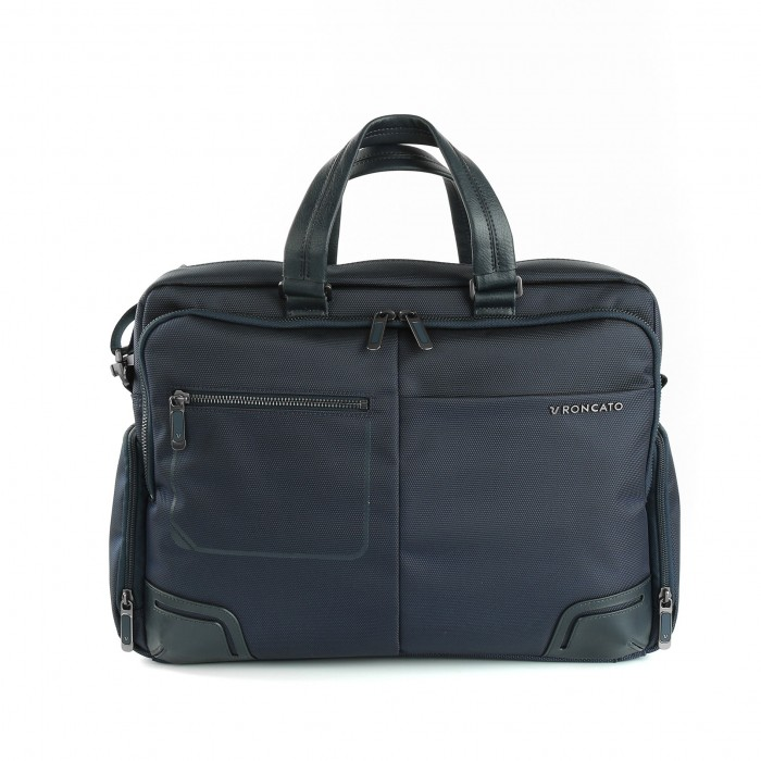 RONCATO WALL STREET 14' LAPTOP BRIEFCASE DARK BLUE
