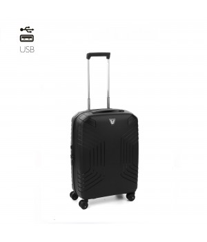 RONCATO YPSILON CABIN TROLLEY 55 x 40 x 20/25 CM EXPANDABLE BLACK