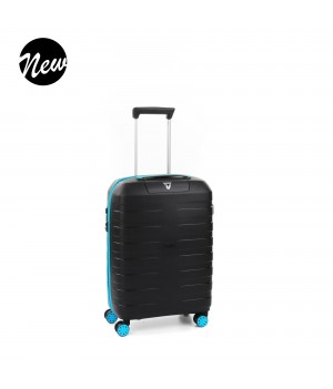 RONCATO BOX YOUNG CARRY-ON SPINNER 55 CM LIGHT BLUE/BLACK