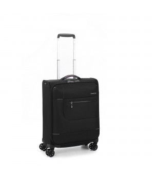 RONCATO SIDETRACK CABIN TROLLEY 55 x 40 x 20 WITH EXTERNAL USB PORT BLACK
