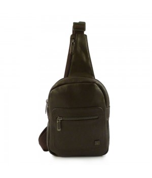 RONCATO ROUND DLX SHOULDER BAG FOR MEN BROWN