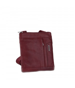 RONCATO PANAMA DLX SHOULDER BAG FOR MEN BORDEAUX