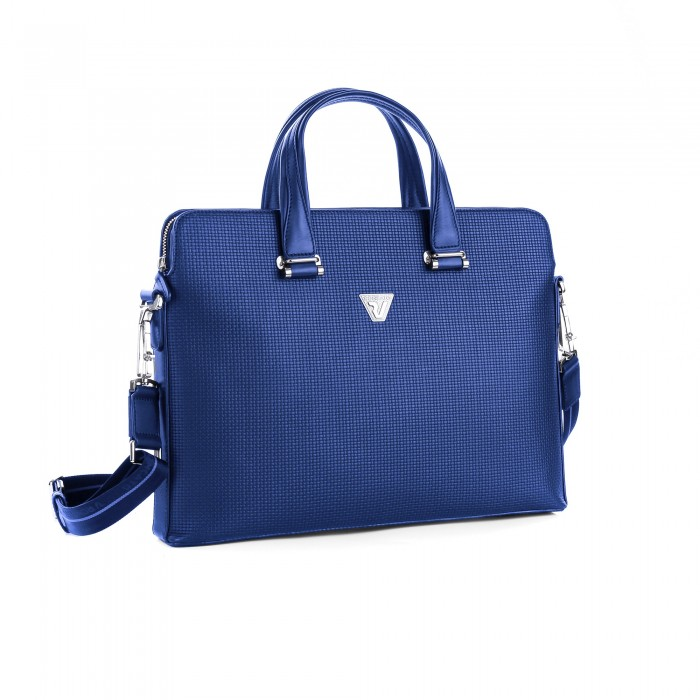 RONCATO BRAVE 14' LAPTOP BAG WITH 3 COMPARTMENTS BLUE