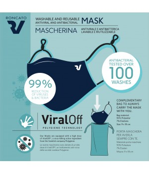 VIRALOFF MASK WASHABLE AND REUSABLE ANTIVIRAL AND ANTIBACTERIAL