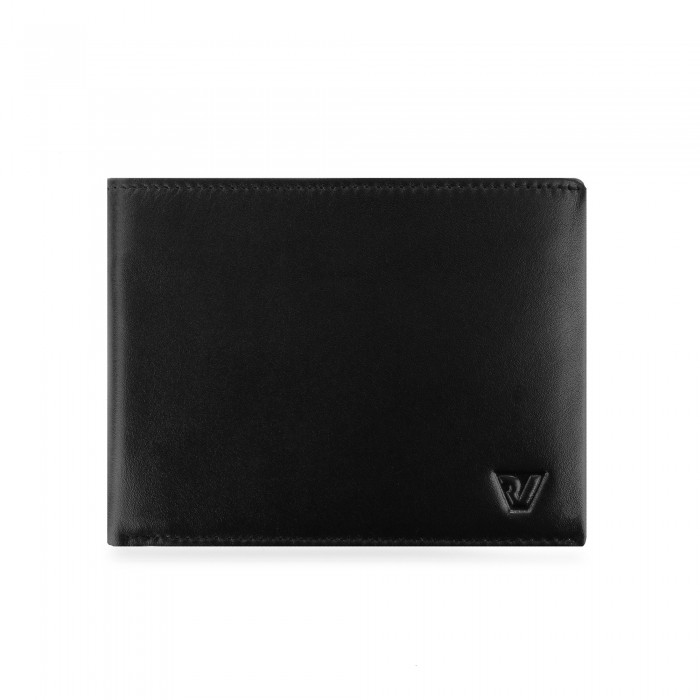 RONCATO AVANA WALLET RFID WITH COIN HOLDER BLACK