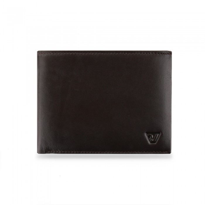 RONCATO AVANA WALLET RFID WITH COIN HOLDER BROWN