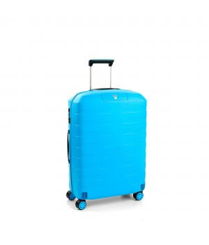 RONCATO BOX 2.0 MEDIUM TROLLEY 4 WHEELS LIGHT BLUE