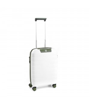RONCATO BOX 2.0 CABIN TROLLEY 55 x 40 x 20 CM WHITE/MILITARY GREEN