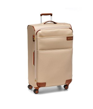 RONCATO UNO SOFT LARGE TROLLEY 4 WHEELS WITH EXPANDABLE CHAMPAGNE